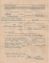William I. Cochrane also served as Magistrate during the 1940s in Hyde County. This original Civil Summons was issued in November 1945.