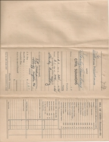 Reverse side of original Civil Summons shown above that was issued in November 1945.