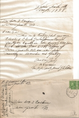 William I. Cochran served as Hyde County Clerk of Superior Court from 1935-1942. This original letter from B. H. Mason, Chairman, Hyde County Board of Elections gave notice of his second elected term 1939-42.