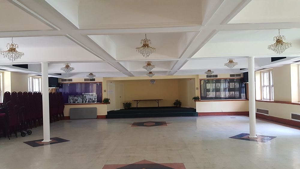 Before picture of interior of City Tabernacle church