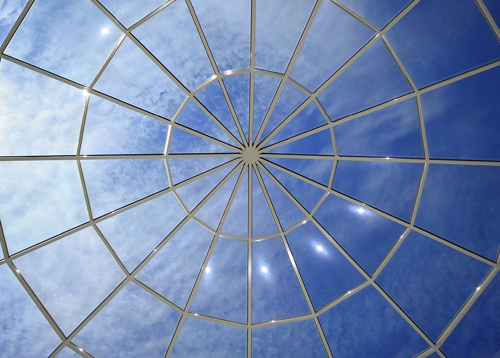 Glass skylight dome in Jerusalem Avenue Church of God of Christ
