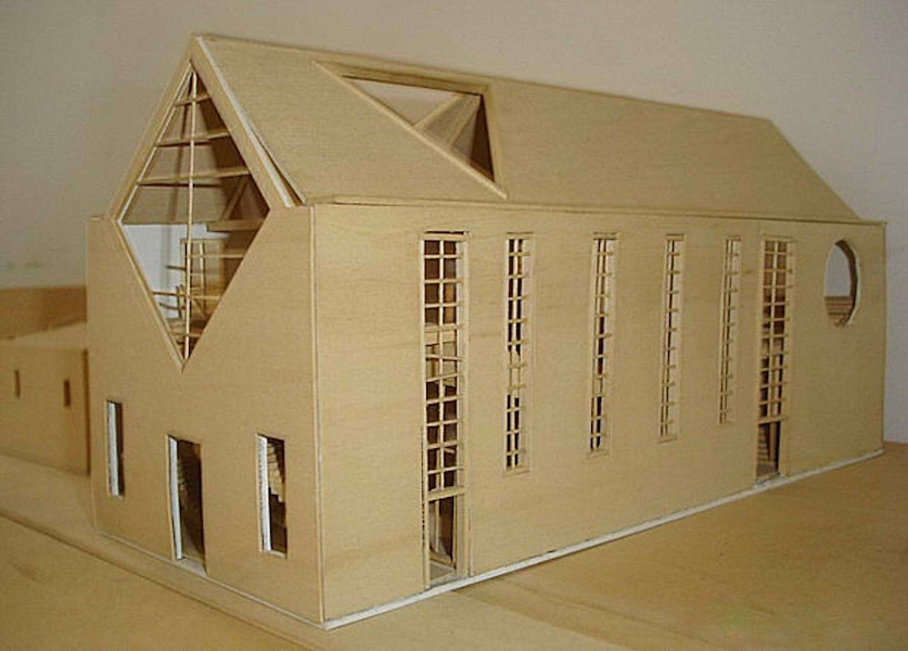 Model house of King Emmanuel Church in 3D rendering