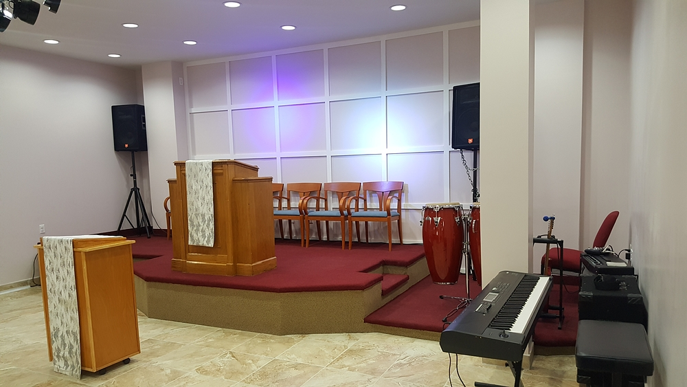 Interior of completed Washington Avenue church after interior redesign