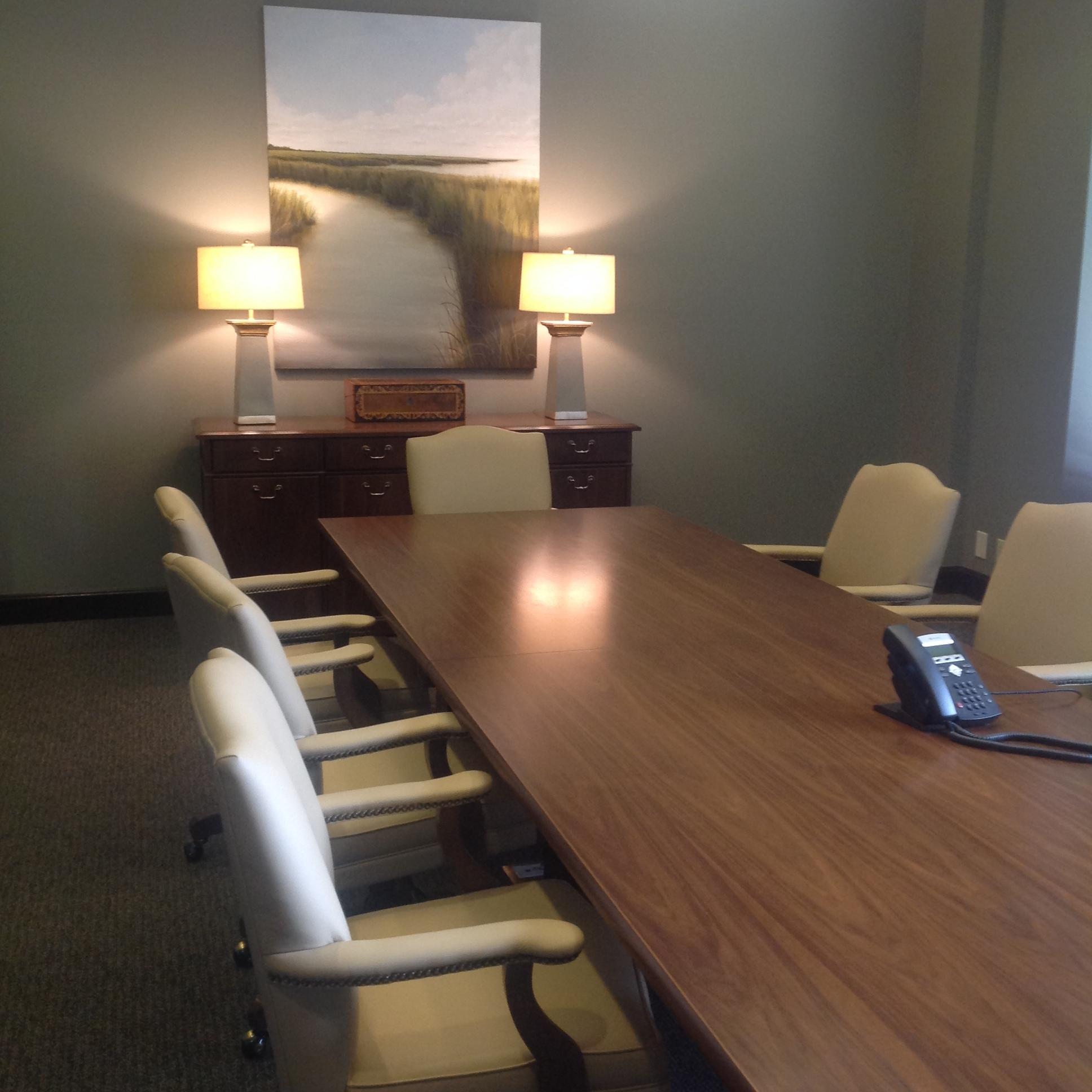 van kirk wealth management conference room, gulfport, mississippi