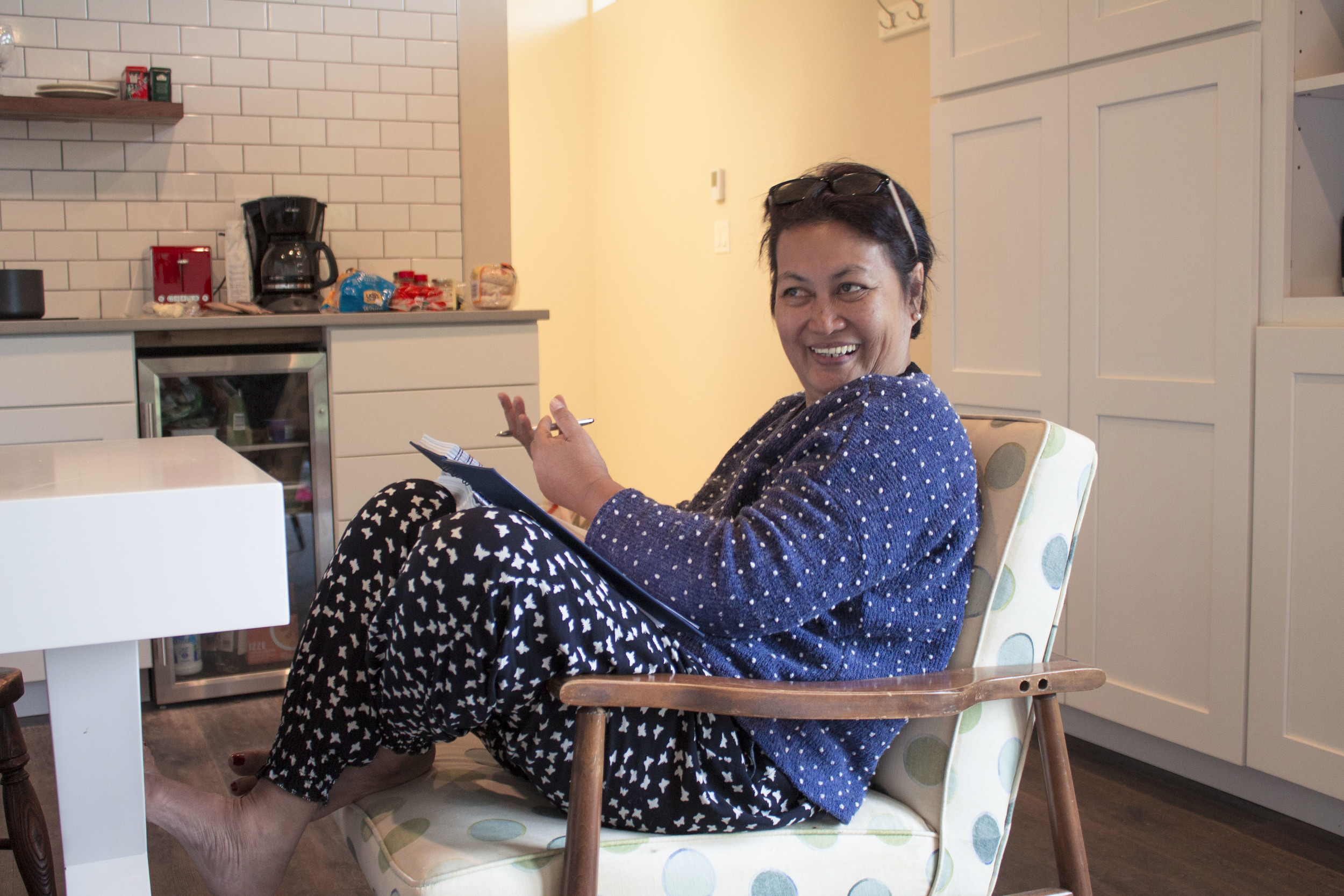 Hope aspires to work on her book during the residency, at least getting a solid start and sorting out the many articles she has written over the years. The time and space to focus on writing her book has been a major challenge as she balances her many roles within her community and family.