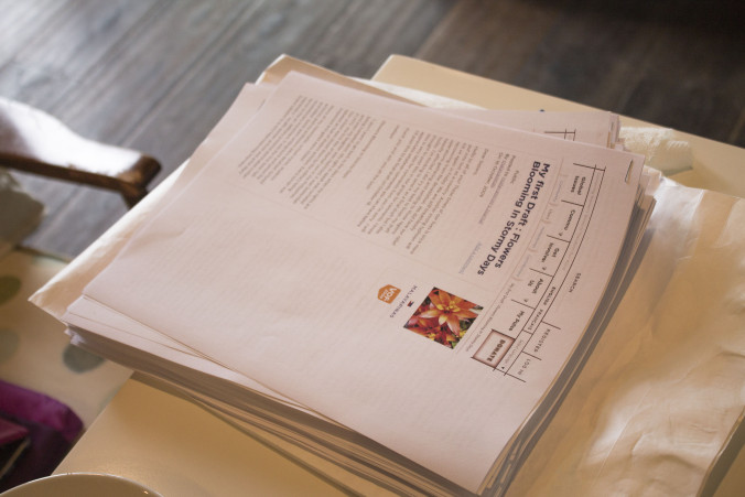 A stack of Hope's articles.