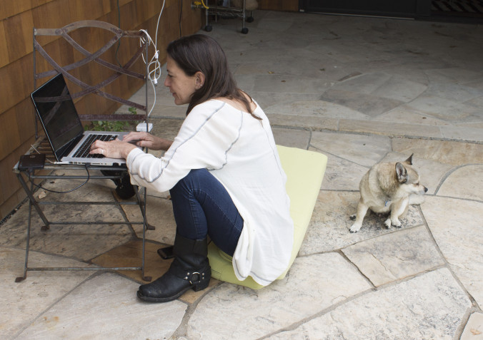 Micol is finding internet where she can keep up with all the media attention.