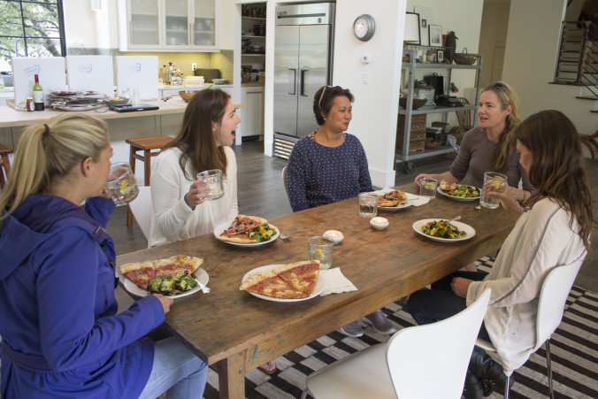 For lunch we were joined by two women entrepreneurs Kathryn Callahan ( http://www.coopercreative.us ) and Kael Robinson ( http://fleeps.com/shop/ ).