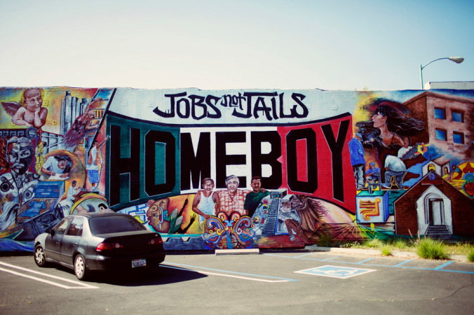 Homeboy Industries is a non-profit in L.A. that teaches ex gang members culinary skills, and offers legal assistance, tattoo removal, and more. Find out more:http://goldenhourblog.com/2012/06/26/homeboy/.