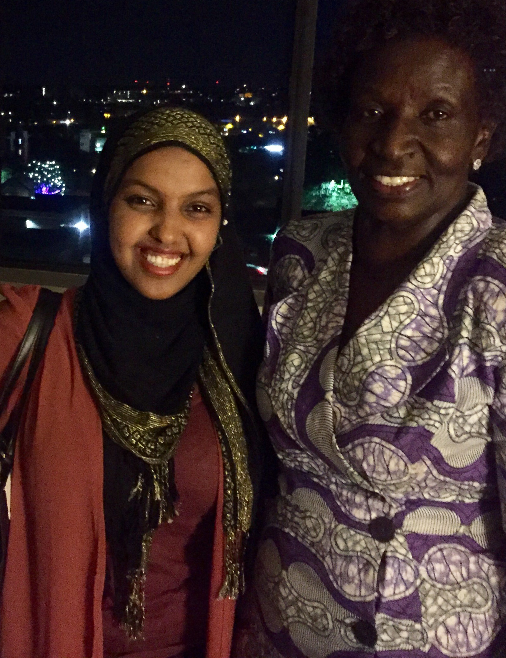 Dinner with friends of WHW in Boulder, Anisa Salat (One Earth Future Foundation) and Ruth Oching