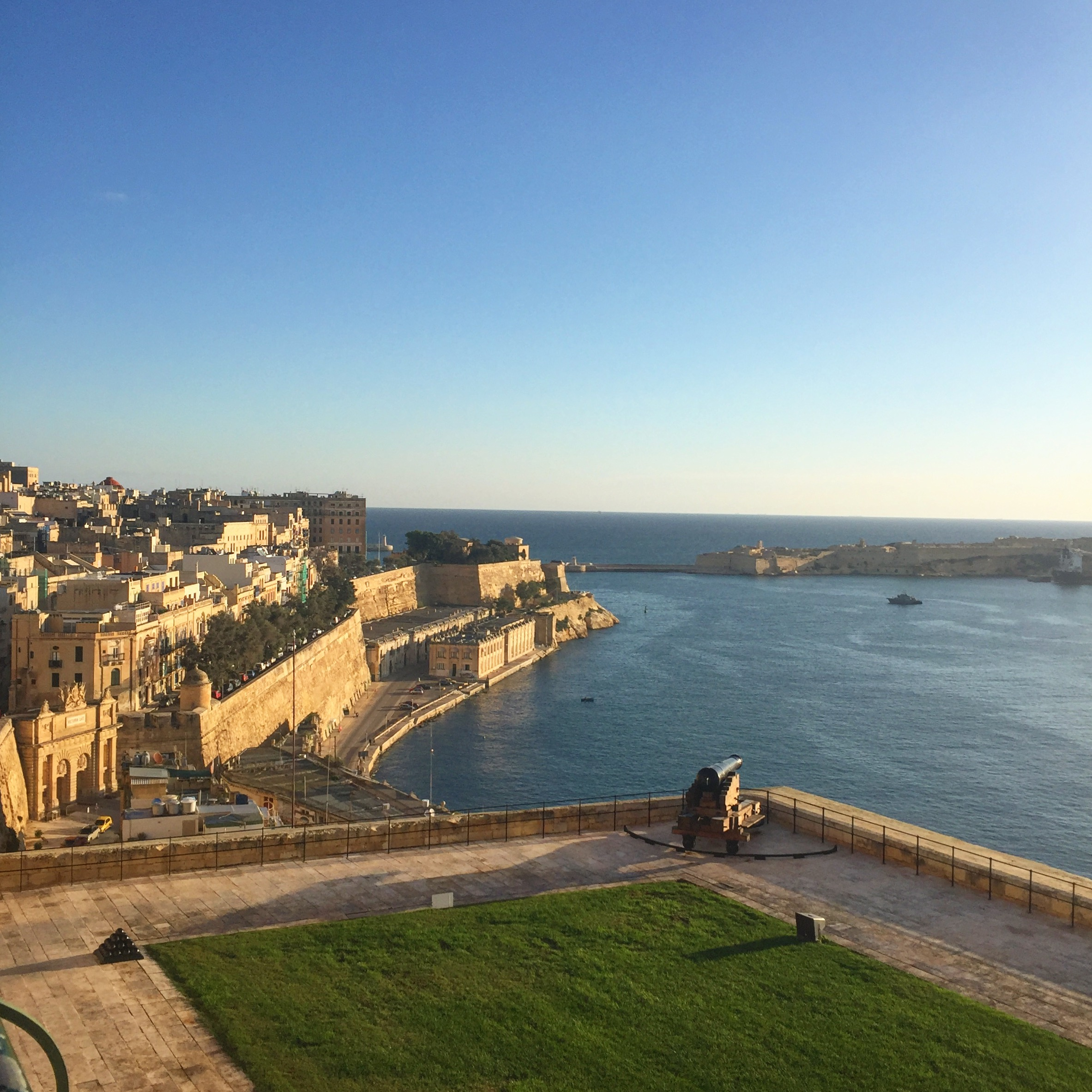 Valletta at sunrise.