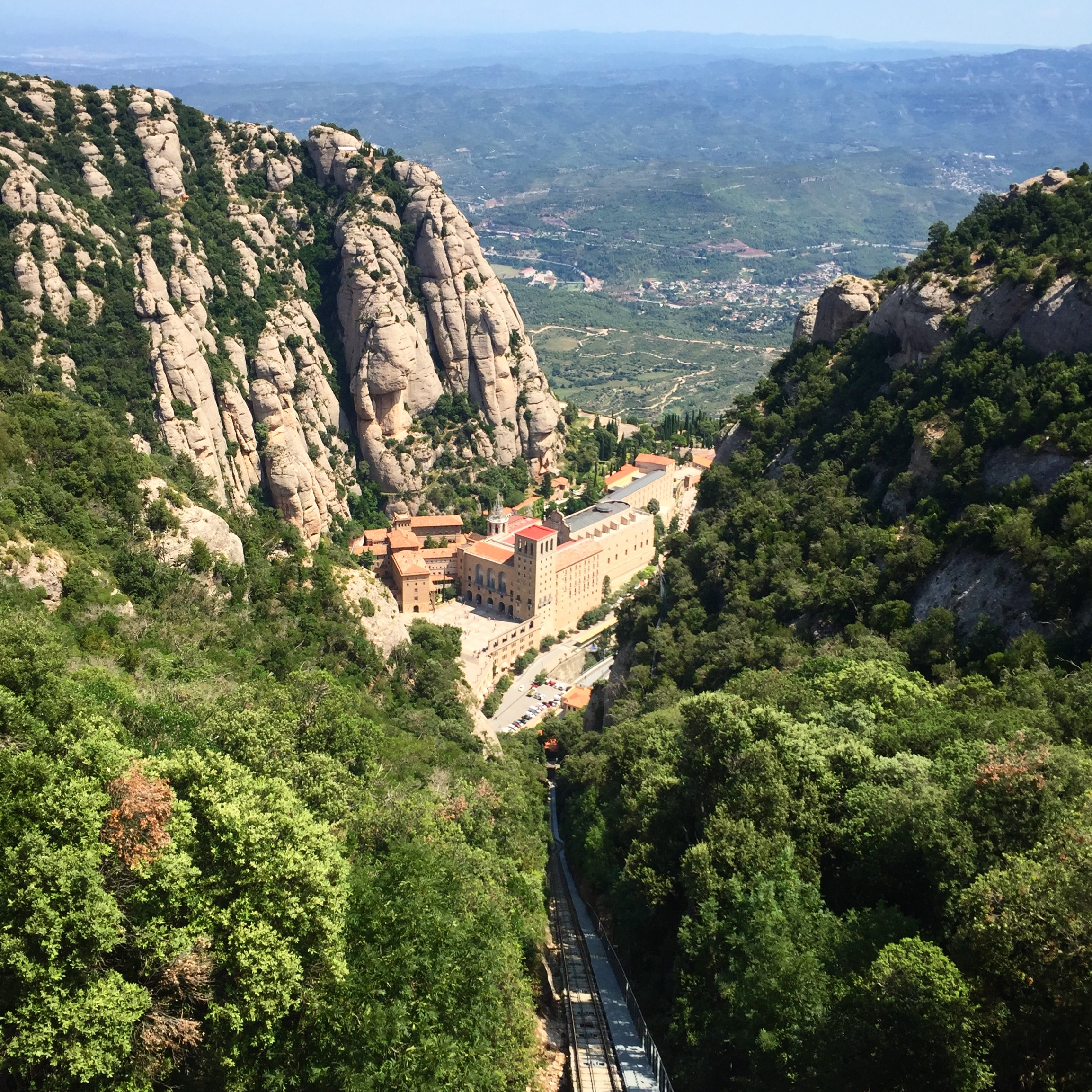 Day trip from Barcelona to  Montserrat Monastery .