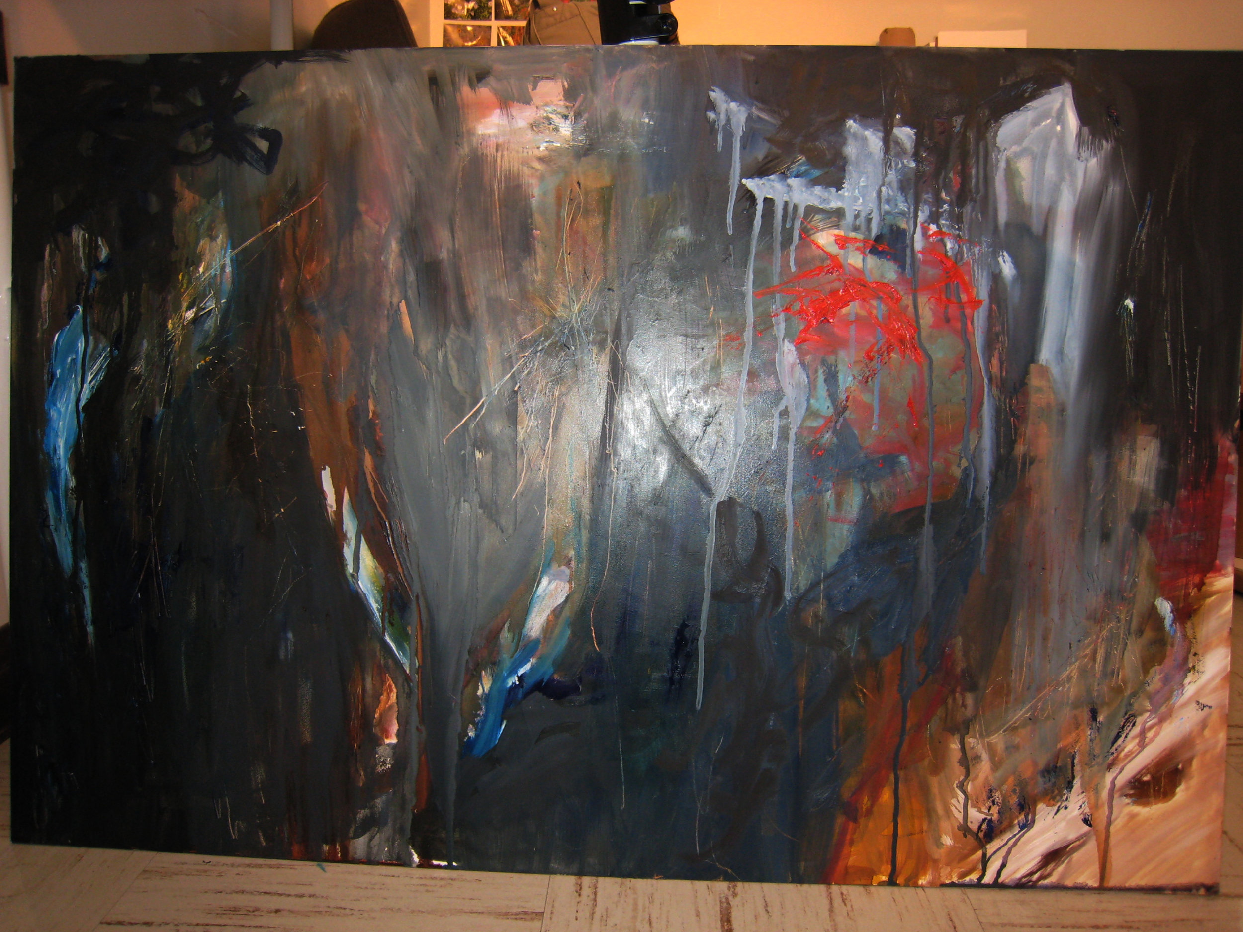 """My very first """"ugly"""" painting circa Sept 2007. © 2007-2018 Kathryn Neale Studio"""