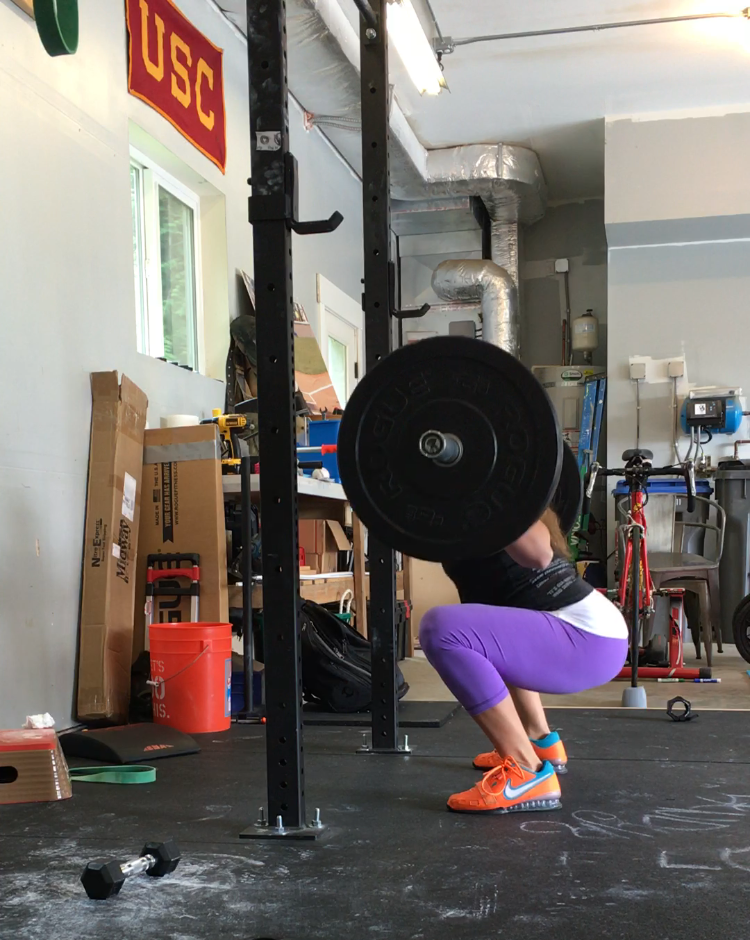 Coach Jessica still squatting strong with baby #3!