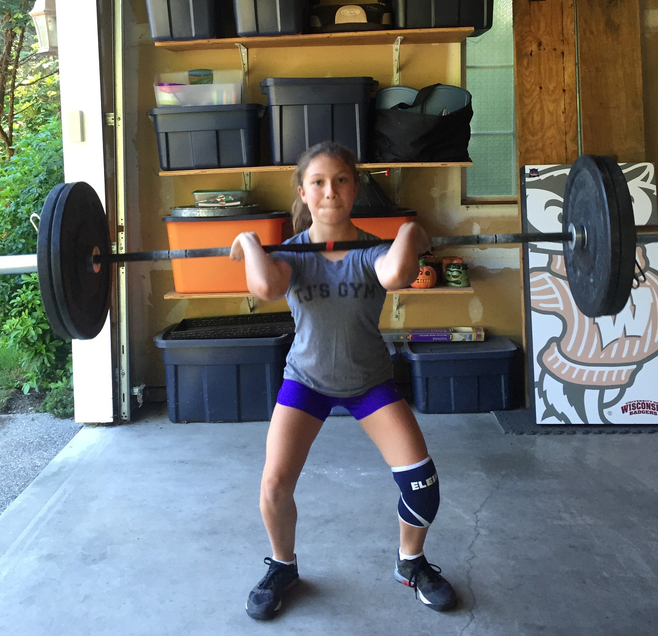 Parker making power cleans look easy