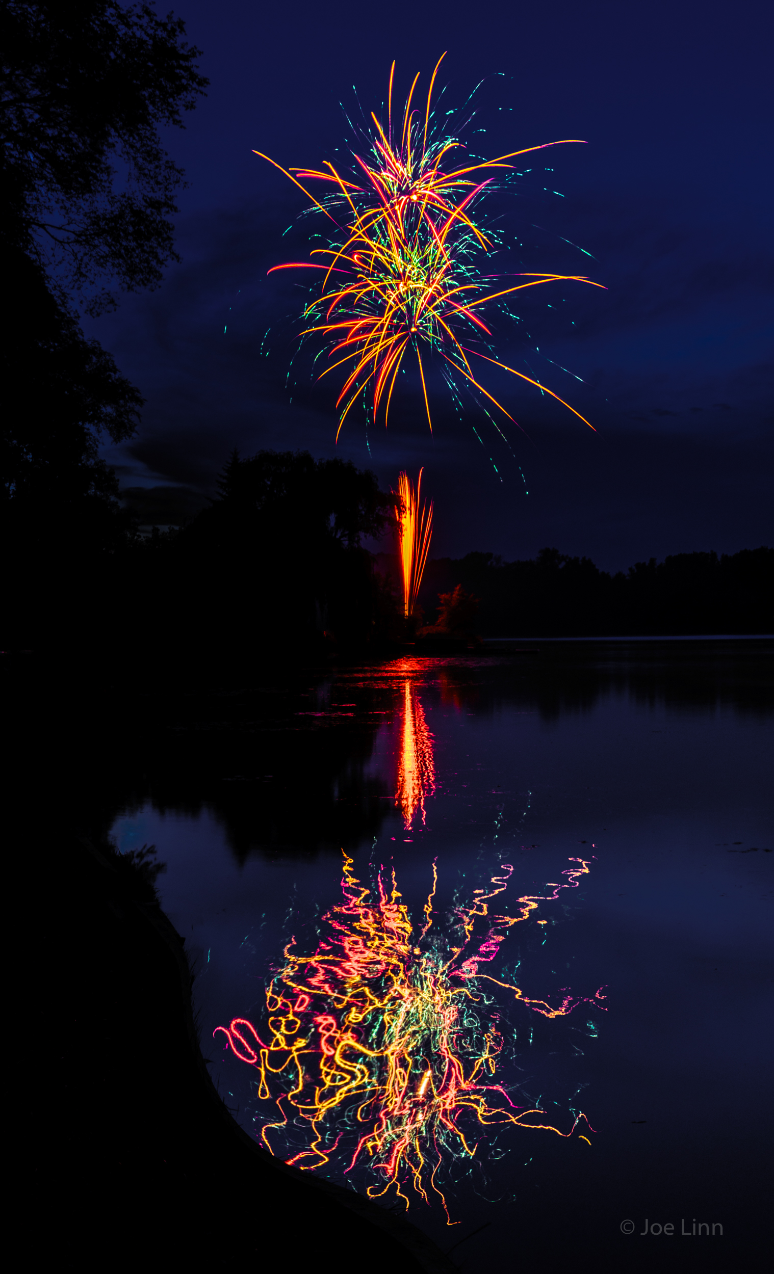 Fireworks reflections 3