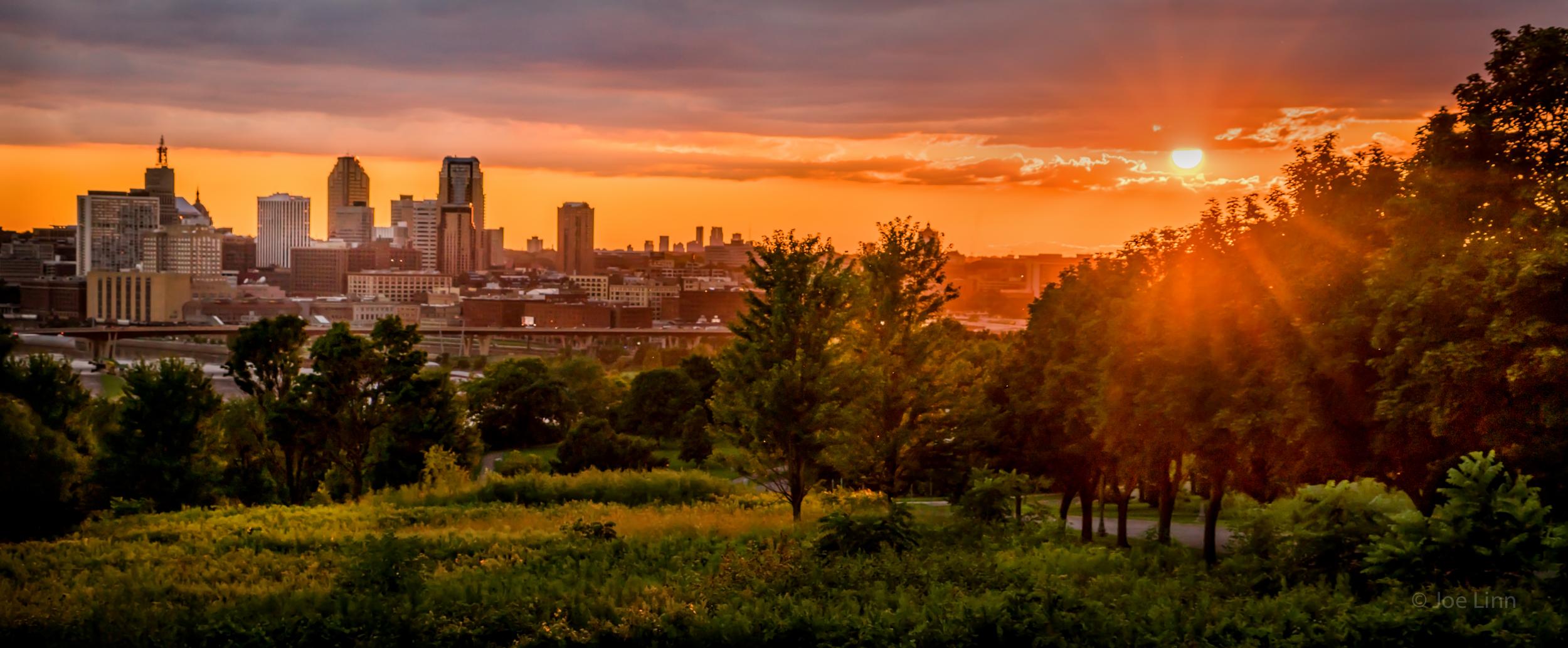 Twin Cities sunset.