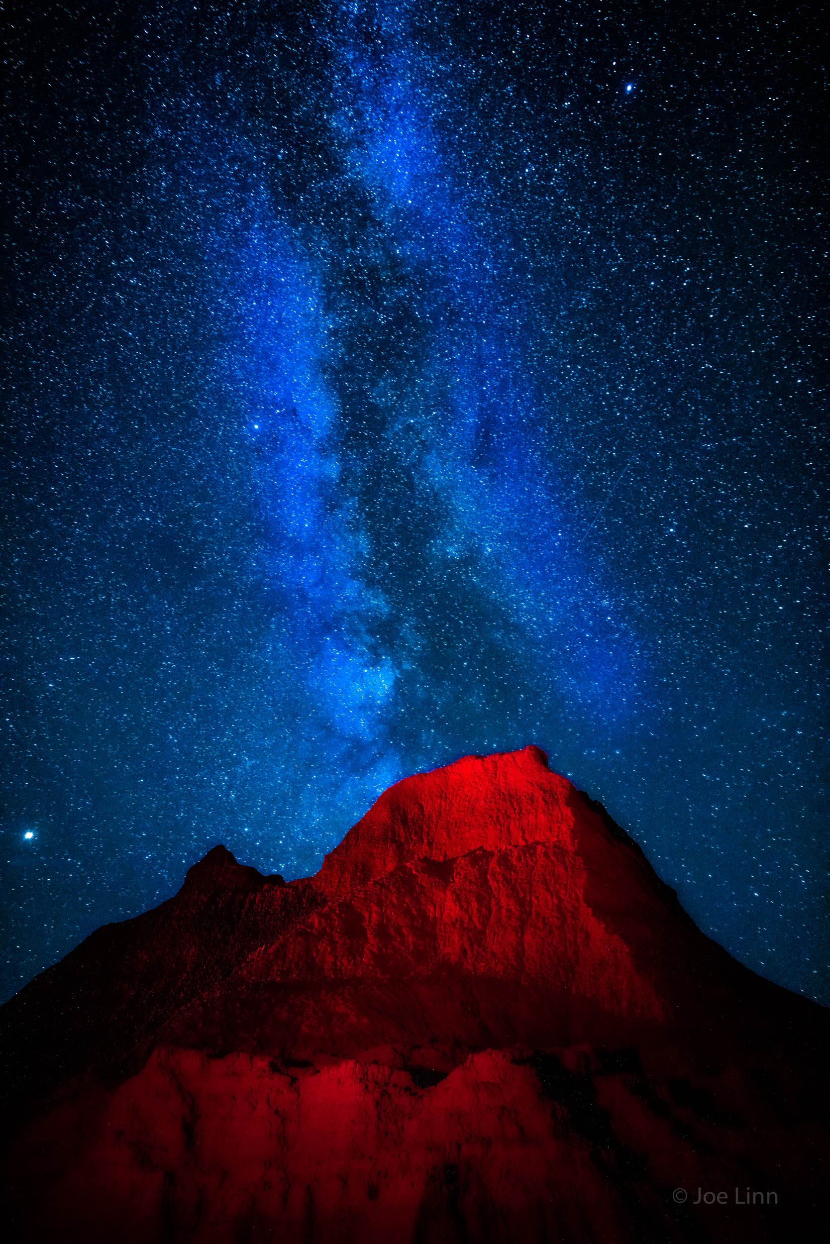 Milky Way and a Red Flashlight