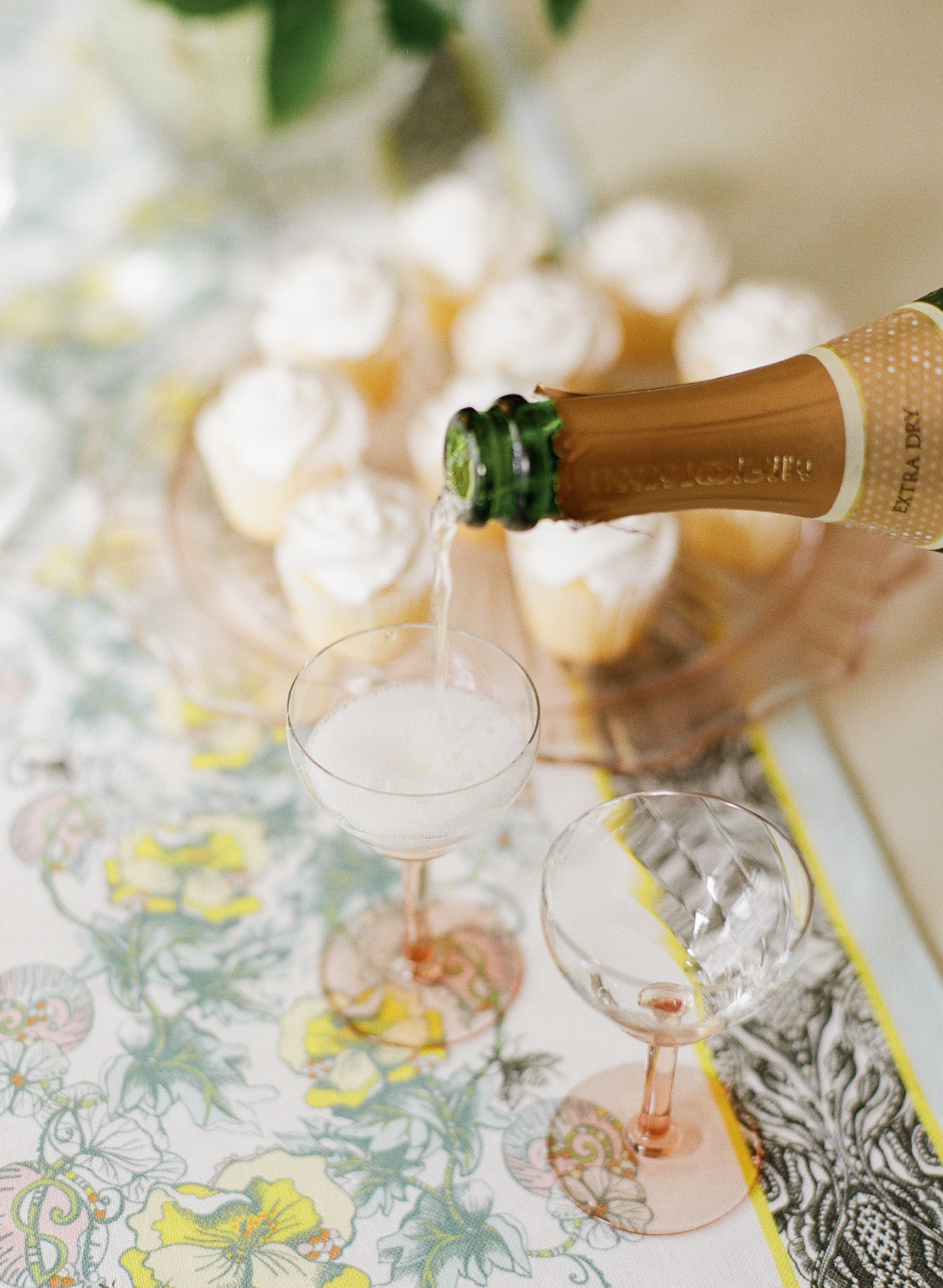 Cheers to 2017 with our Celandine table runner.