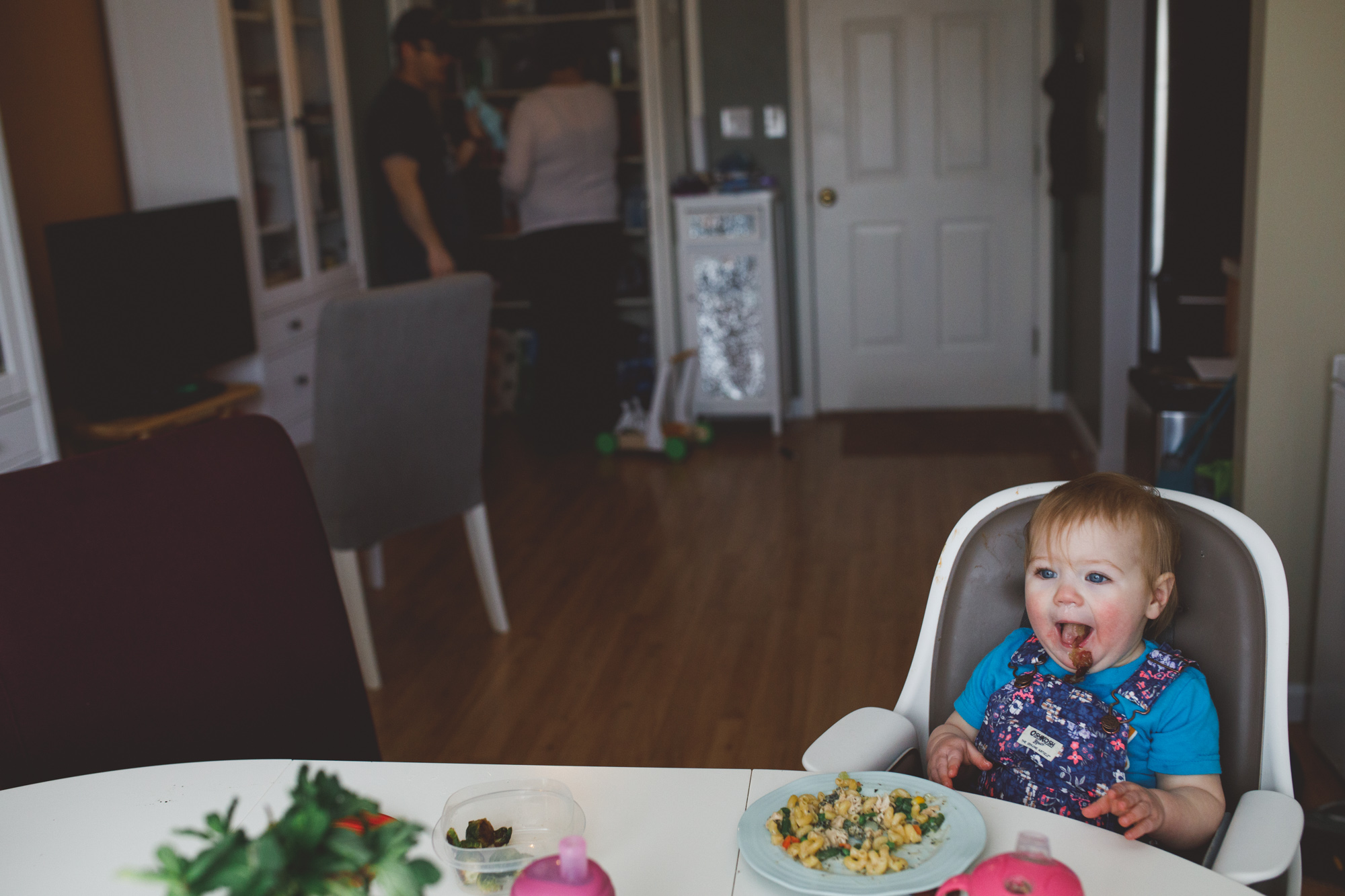 Baby spitting out food. Ferndale Family Photographer. Metro Detroit Family Photographer