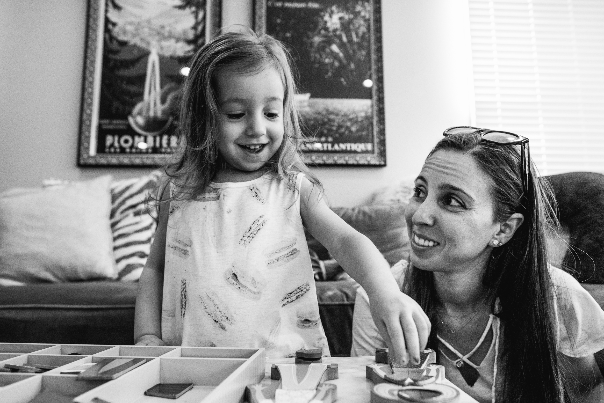 Mom and daughter playing. Birmingham Family Photographer.