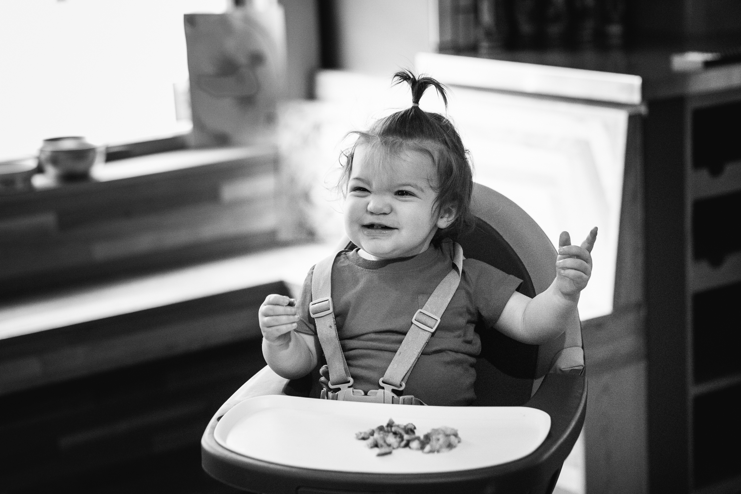 Baby's first french toast. Royal Oak Family Photographer. Detroit Family Photographer.