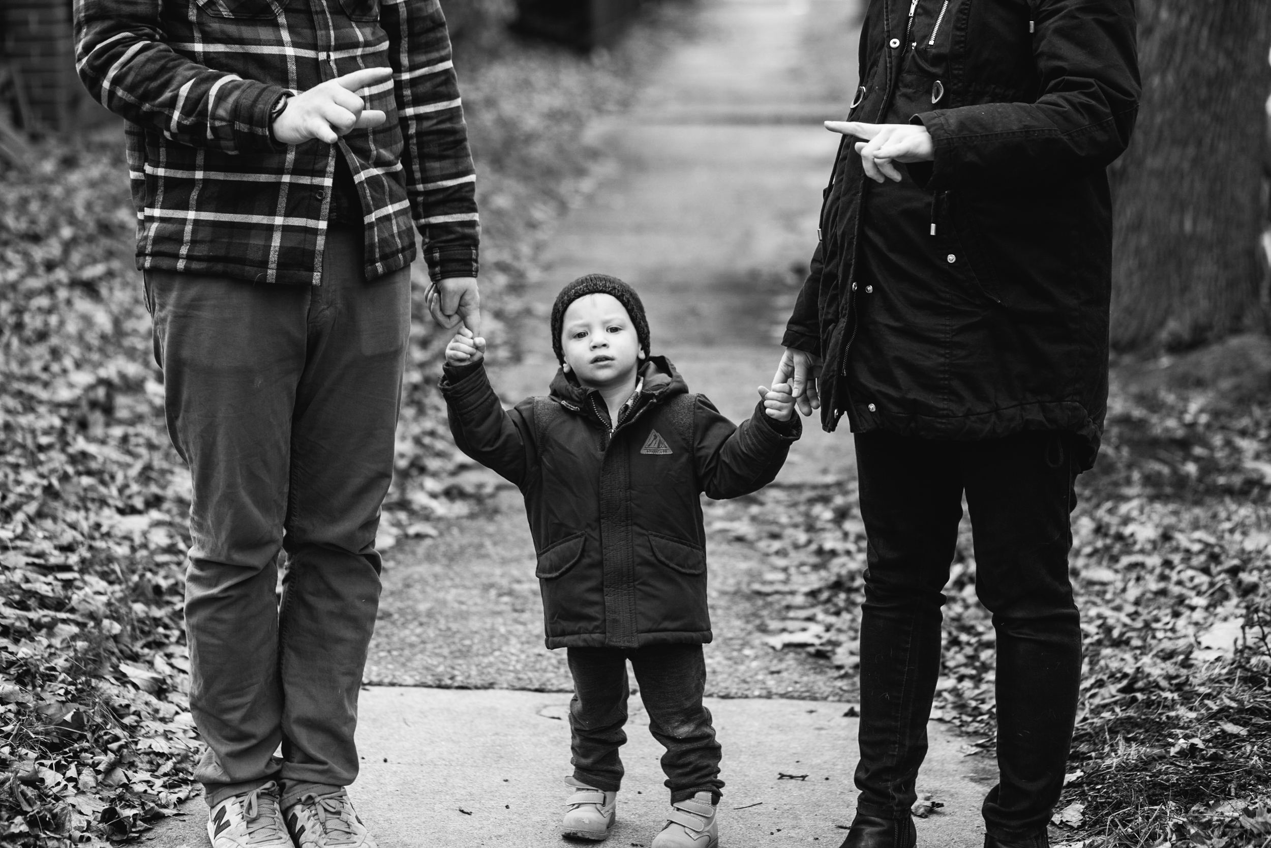 Family walks. Metro Detroit Documentary Family Photographer