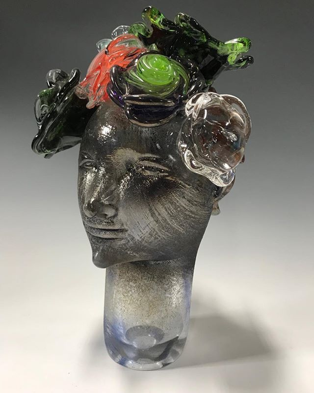 "New work. ""Bloom and Grow"" series. @echtgallery #chicagoglassartist,#grow,#glassart, #mentor,#hotasf,#chicagosummer"