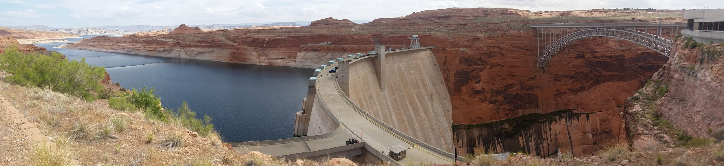 Glen Canyon and Dam on the Colorado River