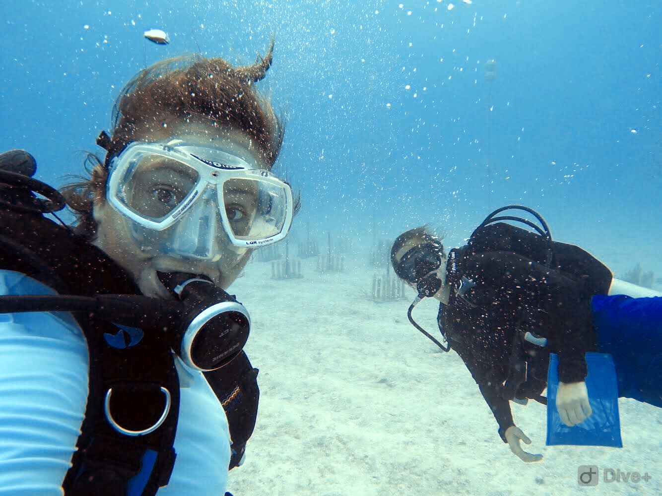 When the ocean gives you great visibility...you take selfies!!