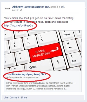 facebook marketing tips: link to your website