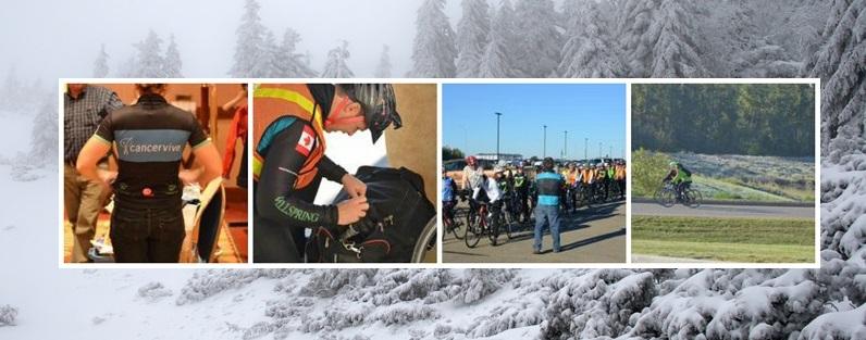 Tour du Cancervive 2014 despite the snowstorm