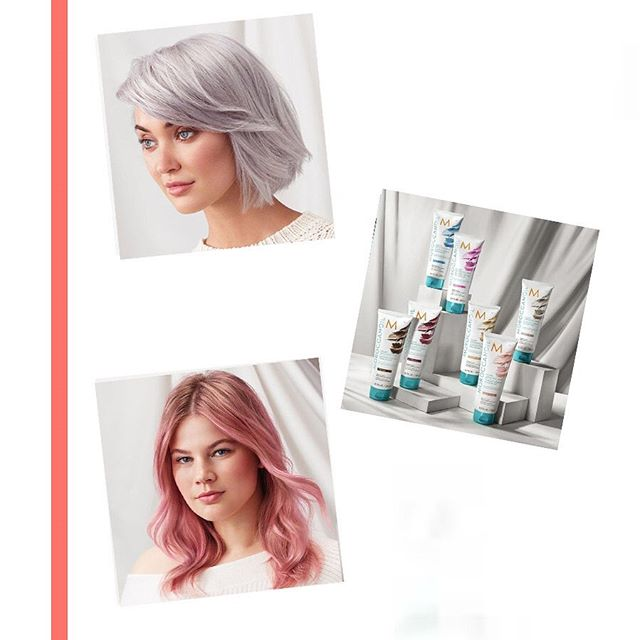 -Moroccanoil Colour Depositing Masks-  Available in 7 intermixable colours. Experiment with fashion shades, enhance tone, refresh existing colour all whilst deeply conditioning and restoring the hairs health. 50% colour 50% care, I can't wait to share more!  #moroccanoil #colourdepositingmask #arganeveryday #colourfulcare #colorfulcare #argancdm #hibiscus #aquamarine #champagne #platinum #rosegokd #bordeaux #cocoa