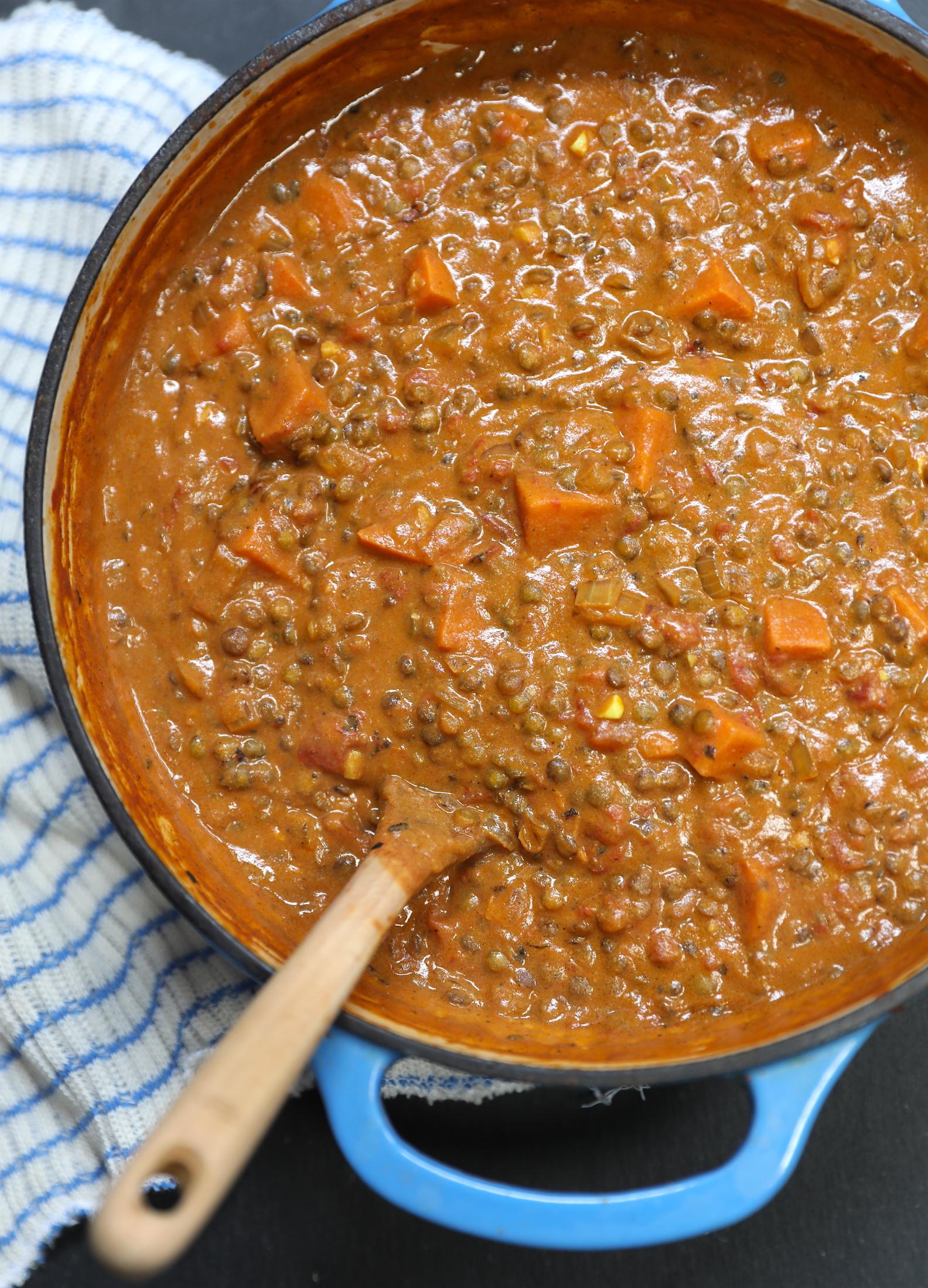 One-Pot Lentil & Sweet Potato Curry