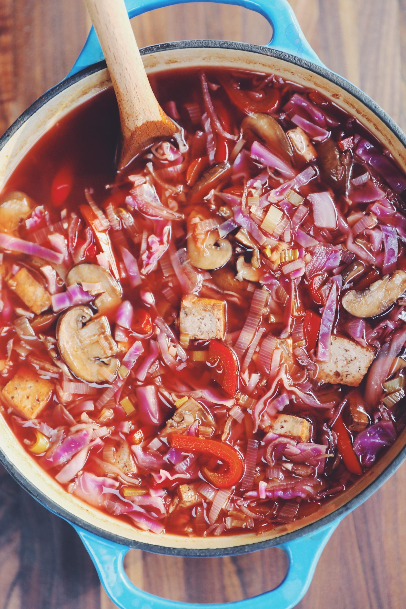 Hot & Sour Cabbage Soup