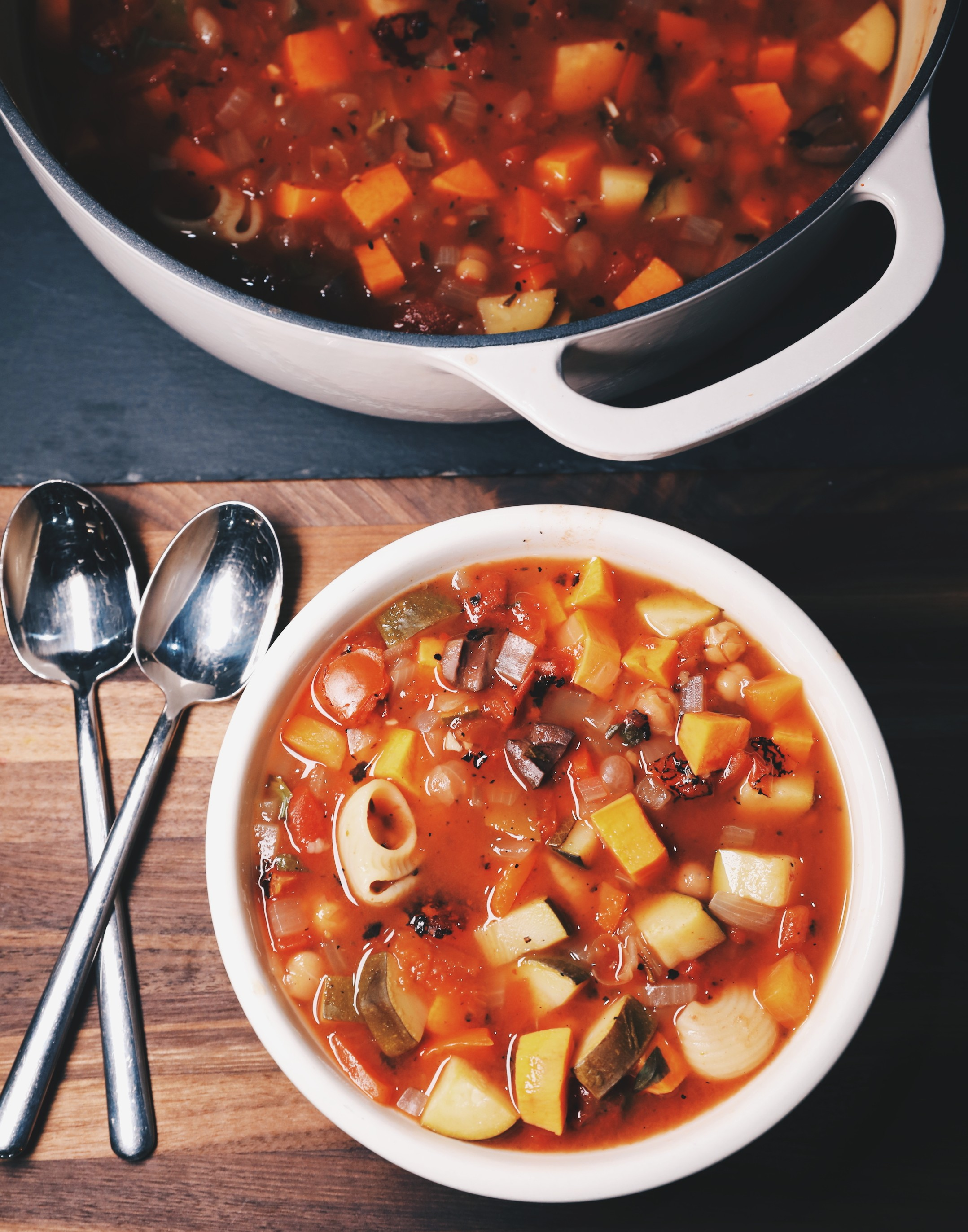 Minestrone Soup with Sweet Potato
