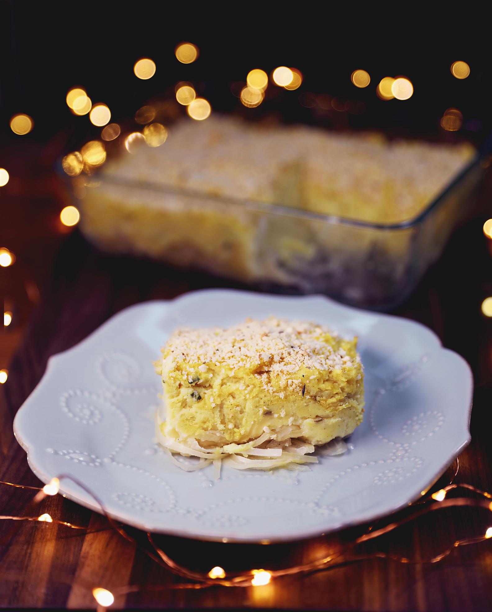 Mashed Potato & Sauerkraut Casserole