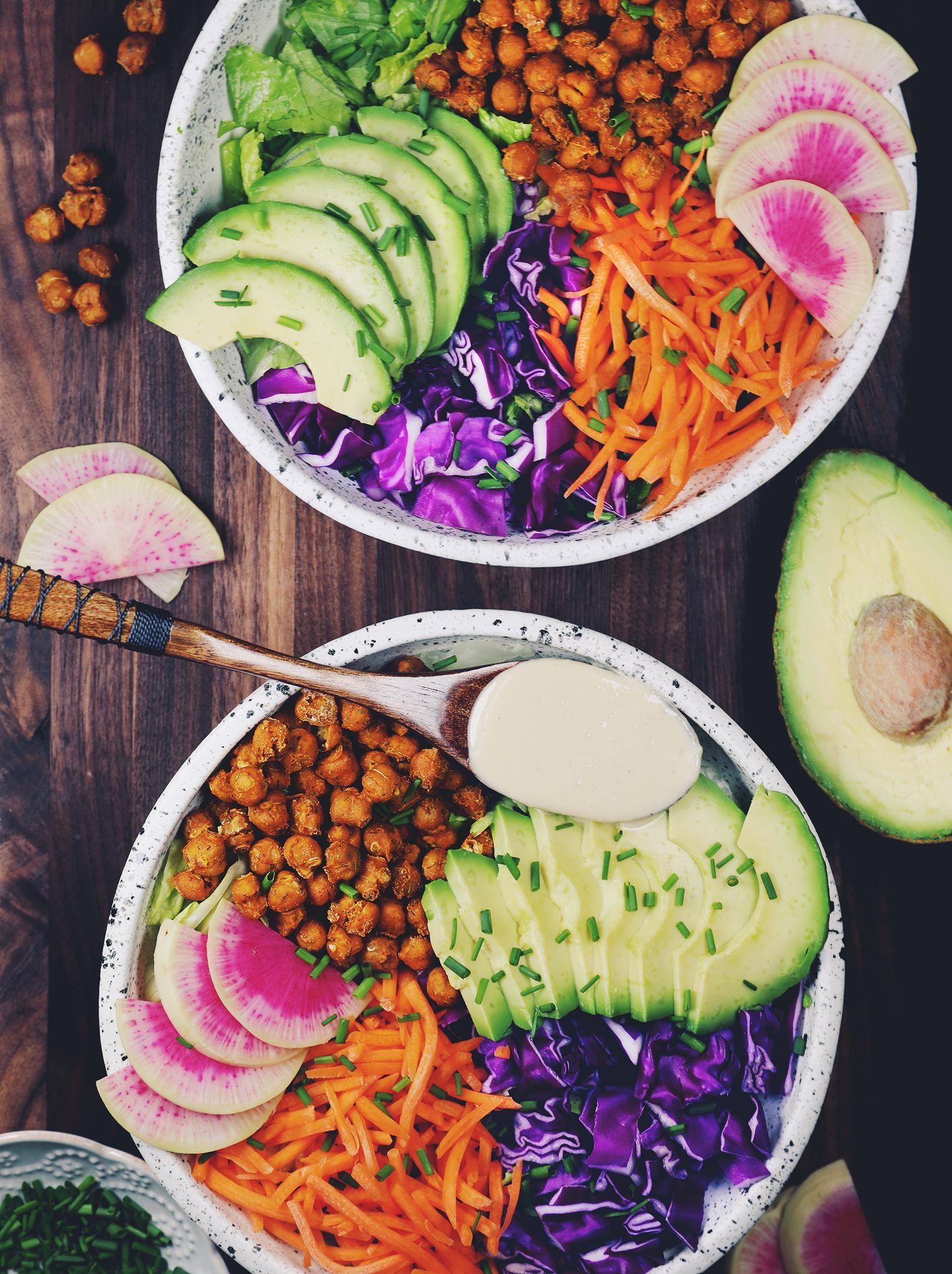 Crispy Chickpea Caesar Salad