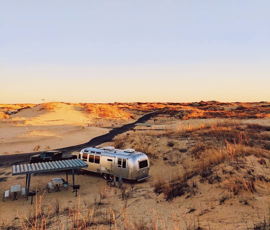Camping in Monahans Sandhills State Park in Texas