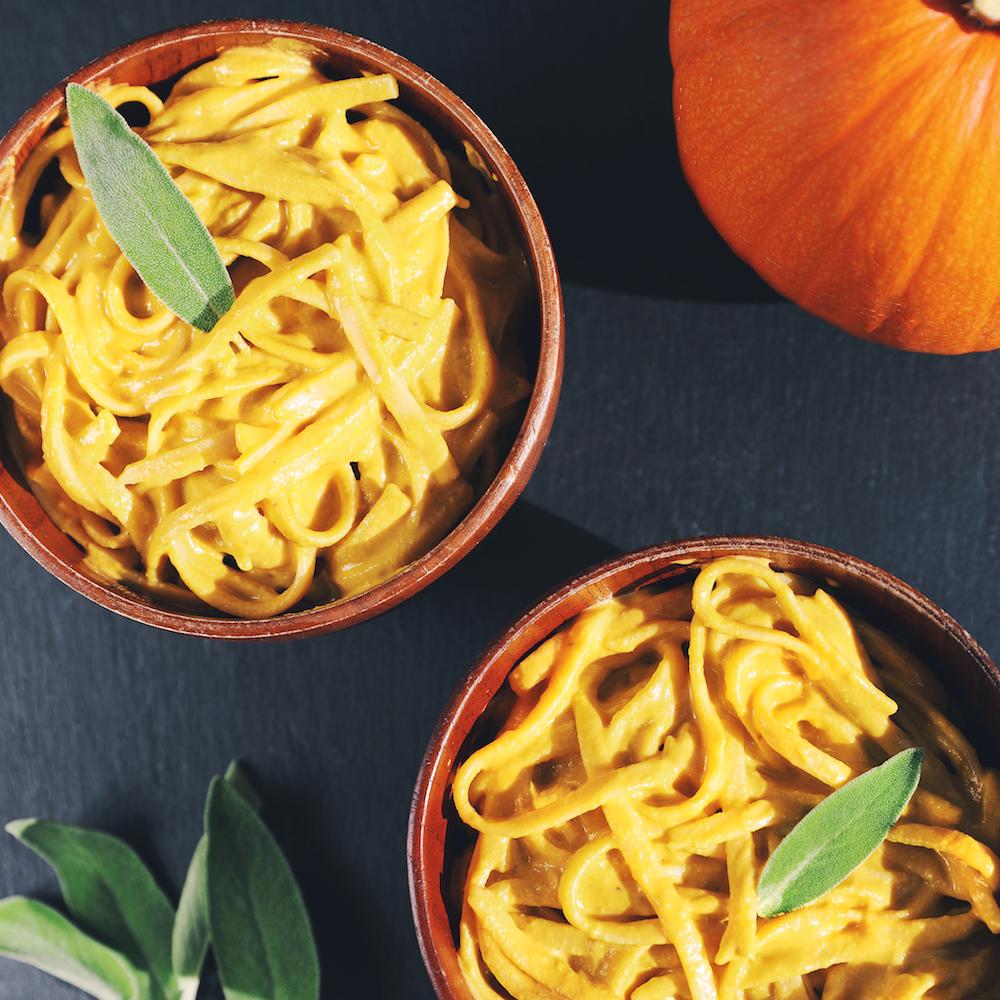 Creamy Double Pumpkin Alfredo Sauce