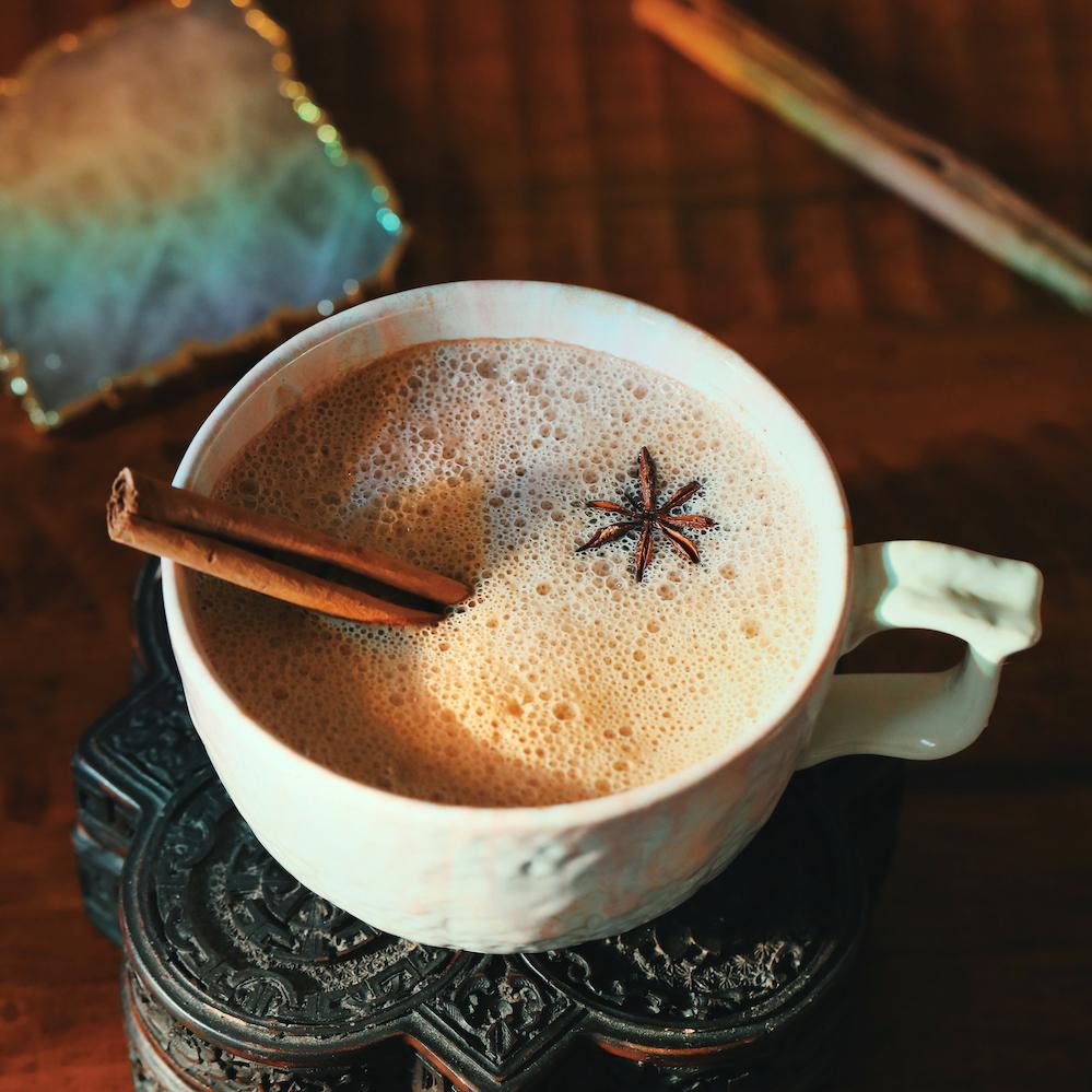 Almond Butter Chai Mate Latte