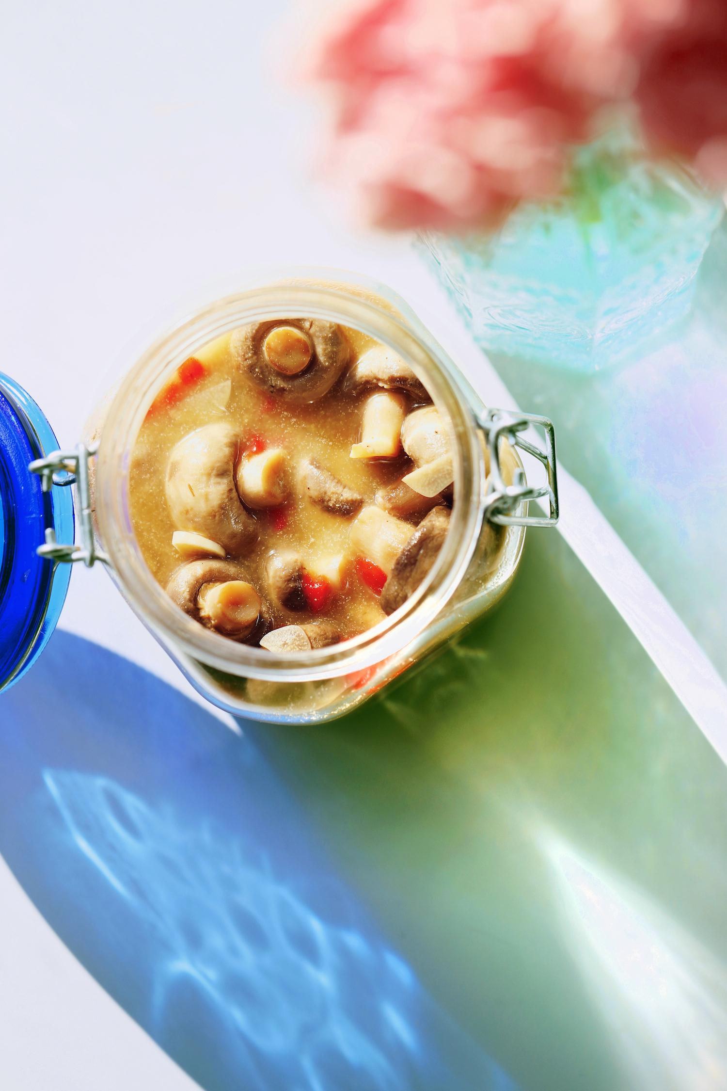Italian Antipasti Marinated Mushrooms