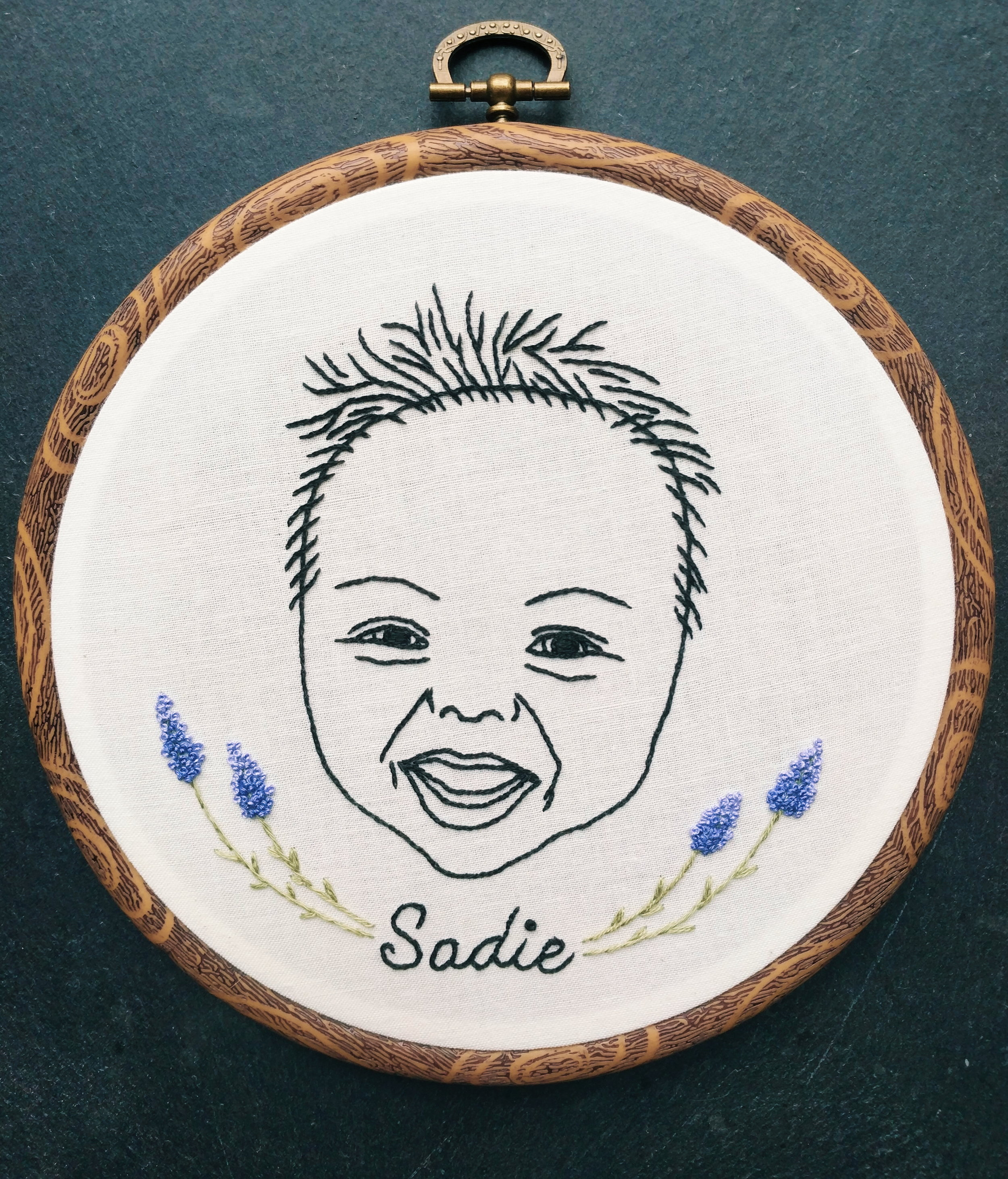 Baby Sadie- an outlined portrait and my first commissioned project