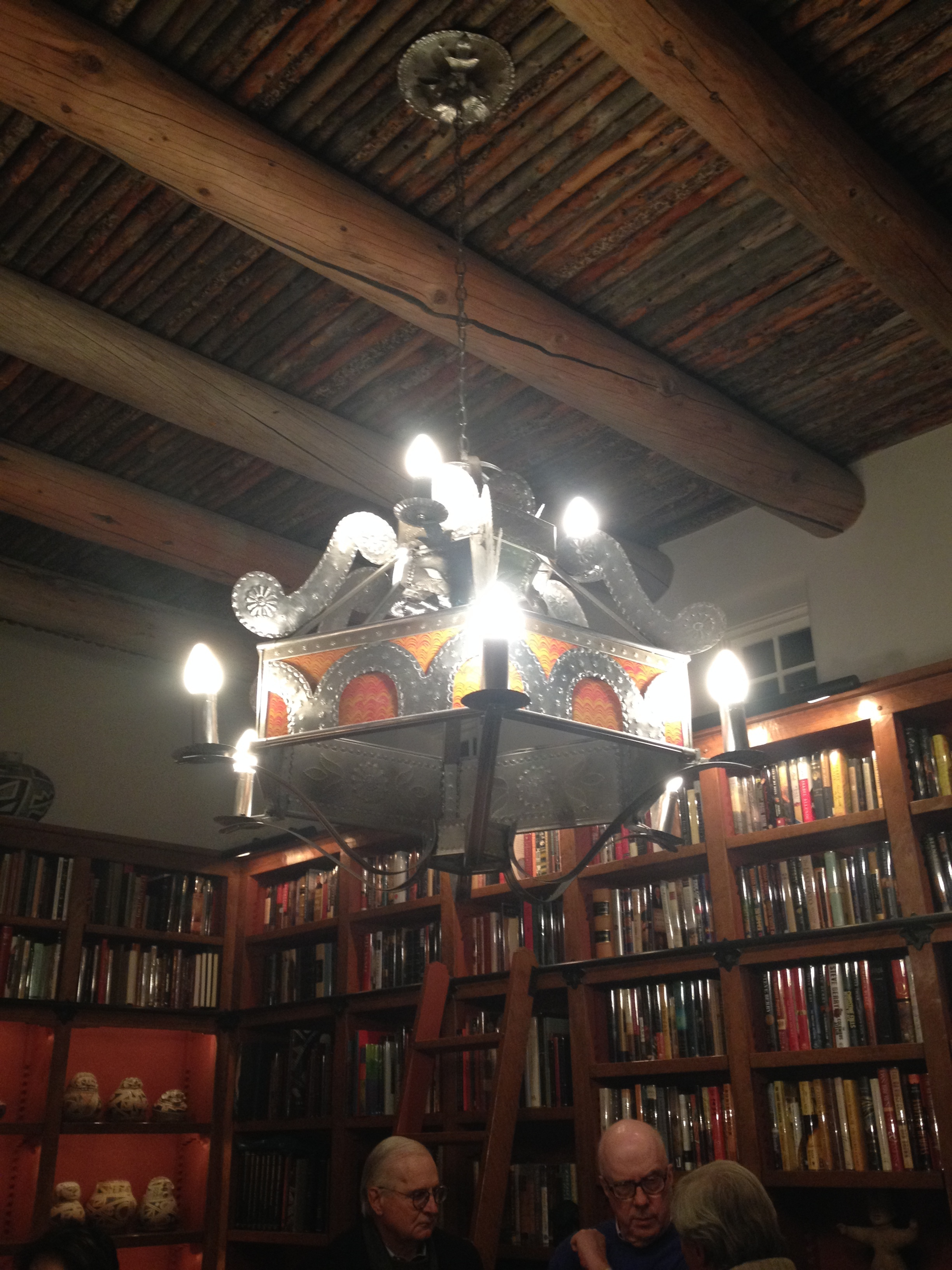 Maurice Dixon tinwork in Roque Lobato Library for Winter Stewards Event, December 2015