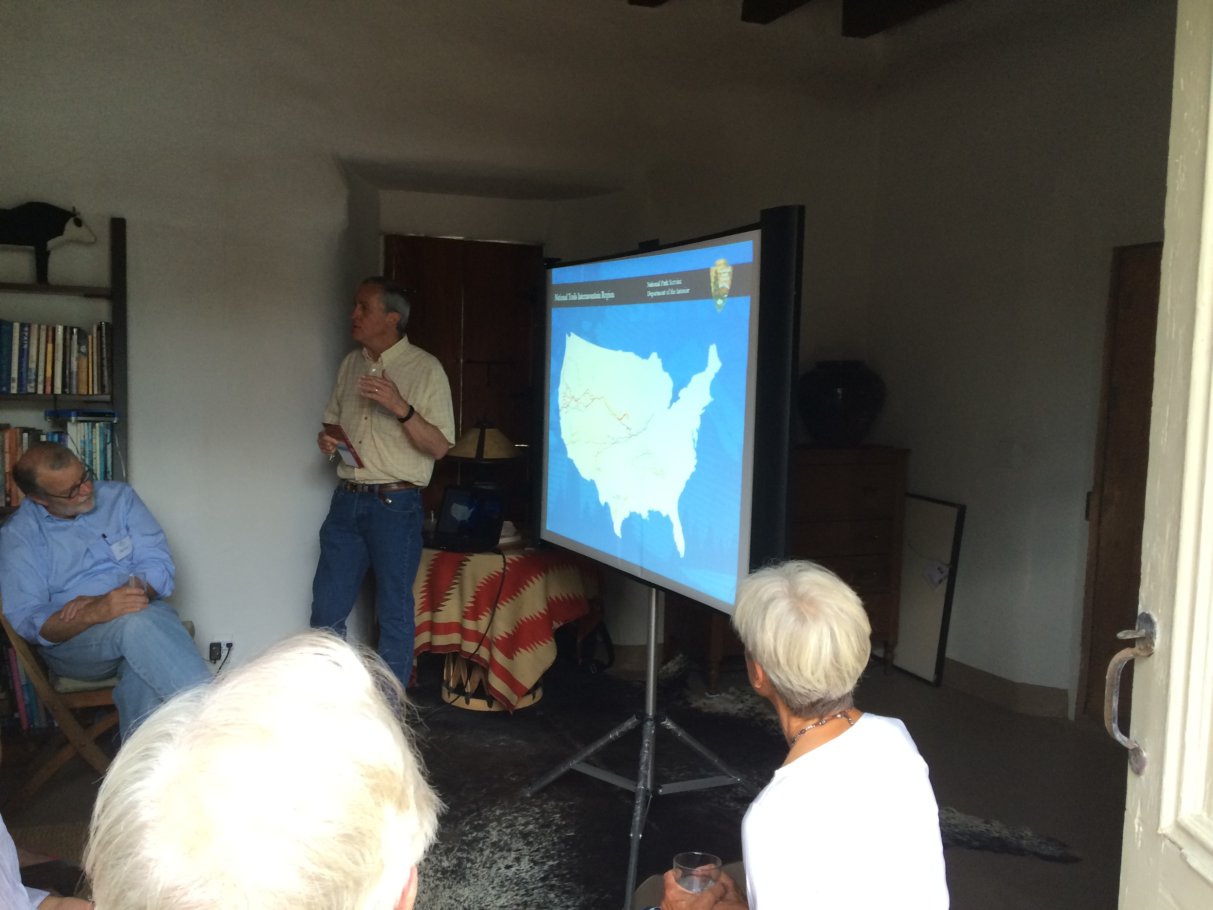Michael Taylor speaking about El Camino Real de Tierra Adentro, Stewards Event, The Vigil House, July 2016