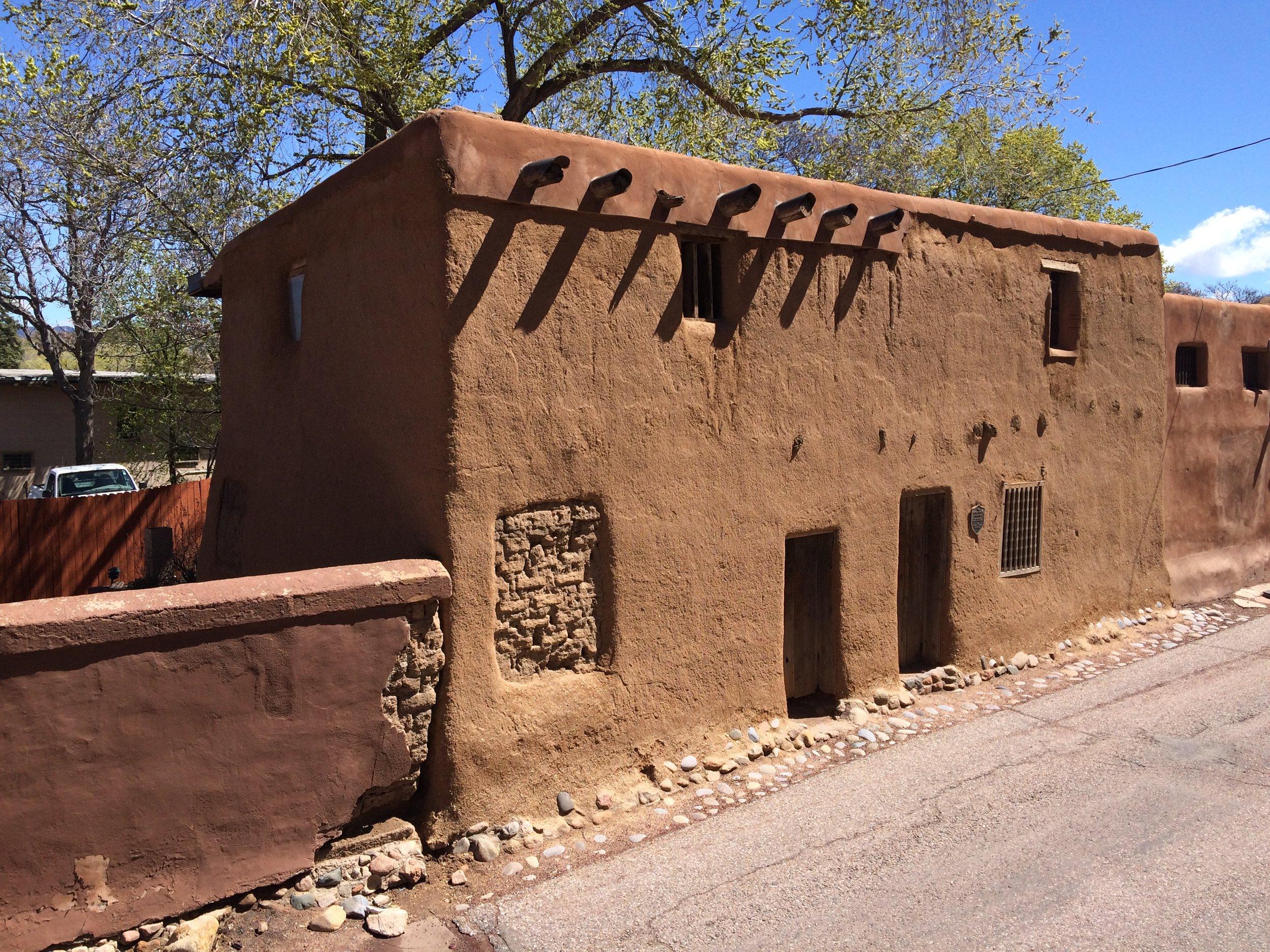 "The ""Oldest"" House, (west portion), 209-215 East De Vargas"