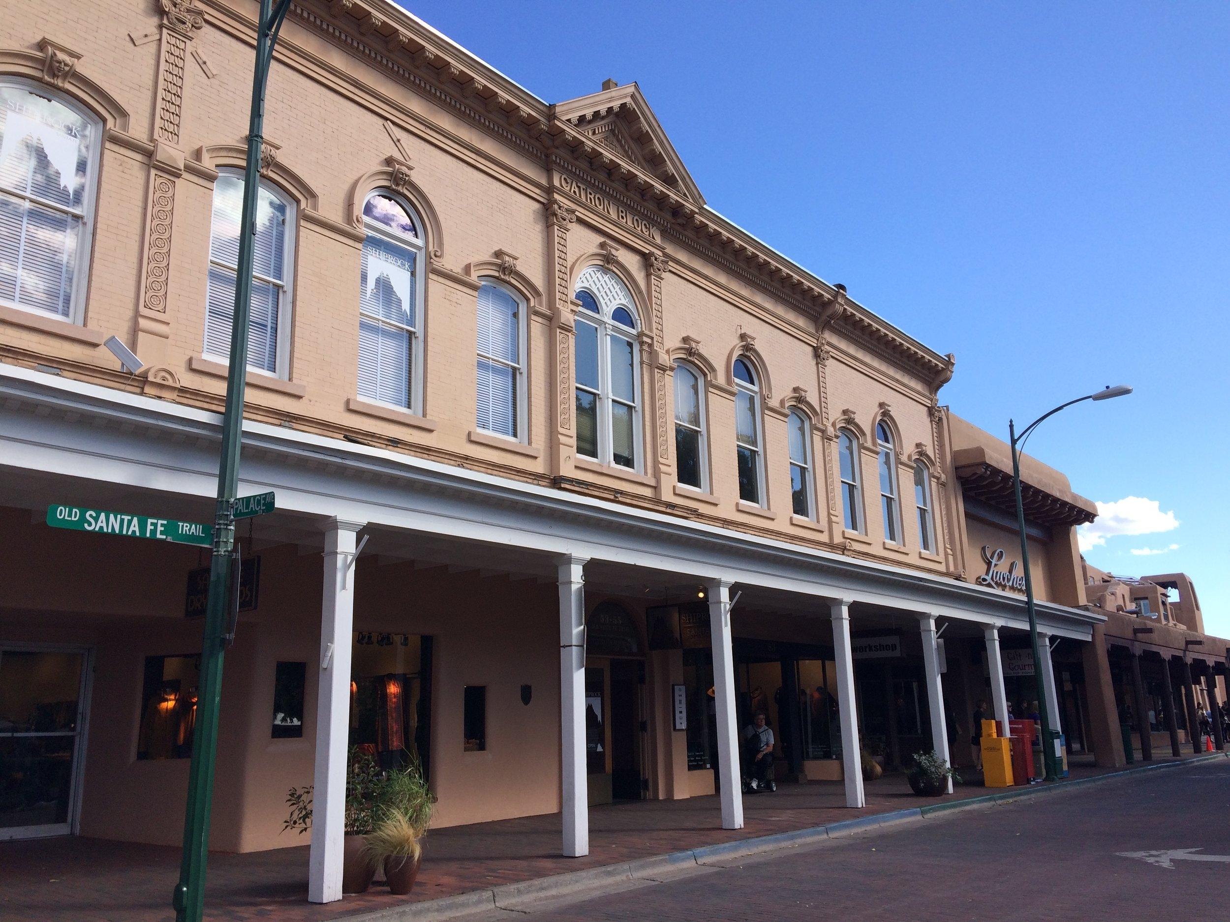 Catron Block, NE corner of Plaza on Old Santa Fe Trail