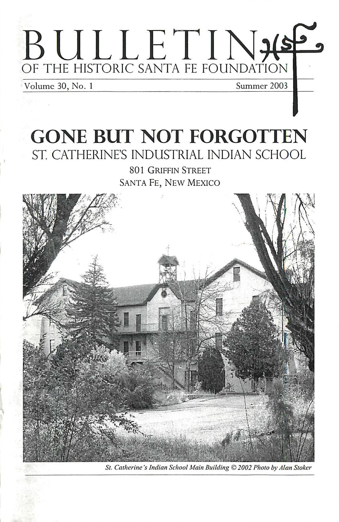 2003 HSFF Bulletin Vol.30 No.1 Cover