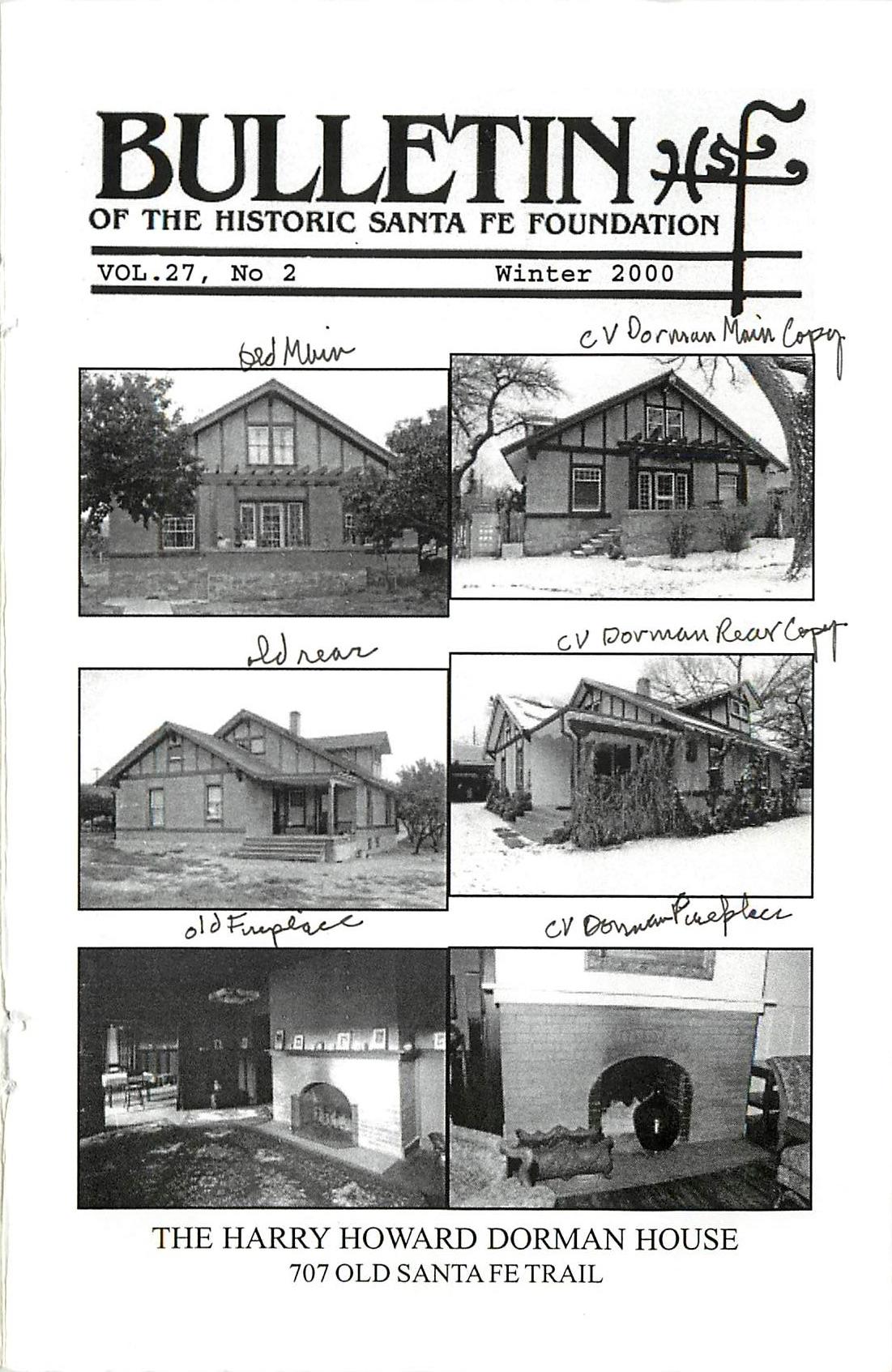 2000 HSFF Bulletin Vol.27 No.2 Cover