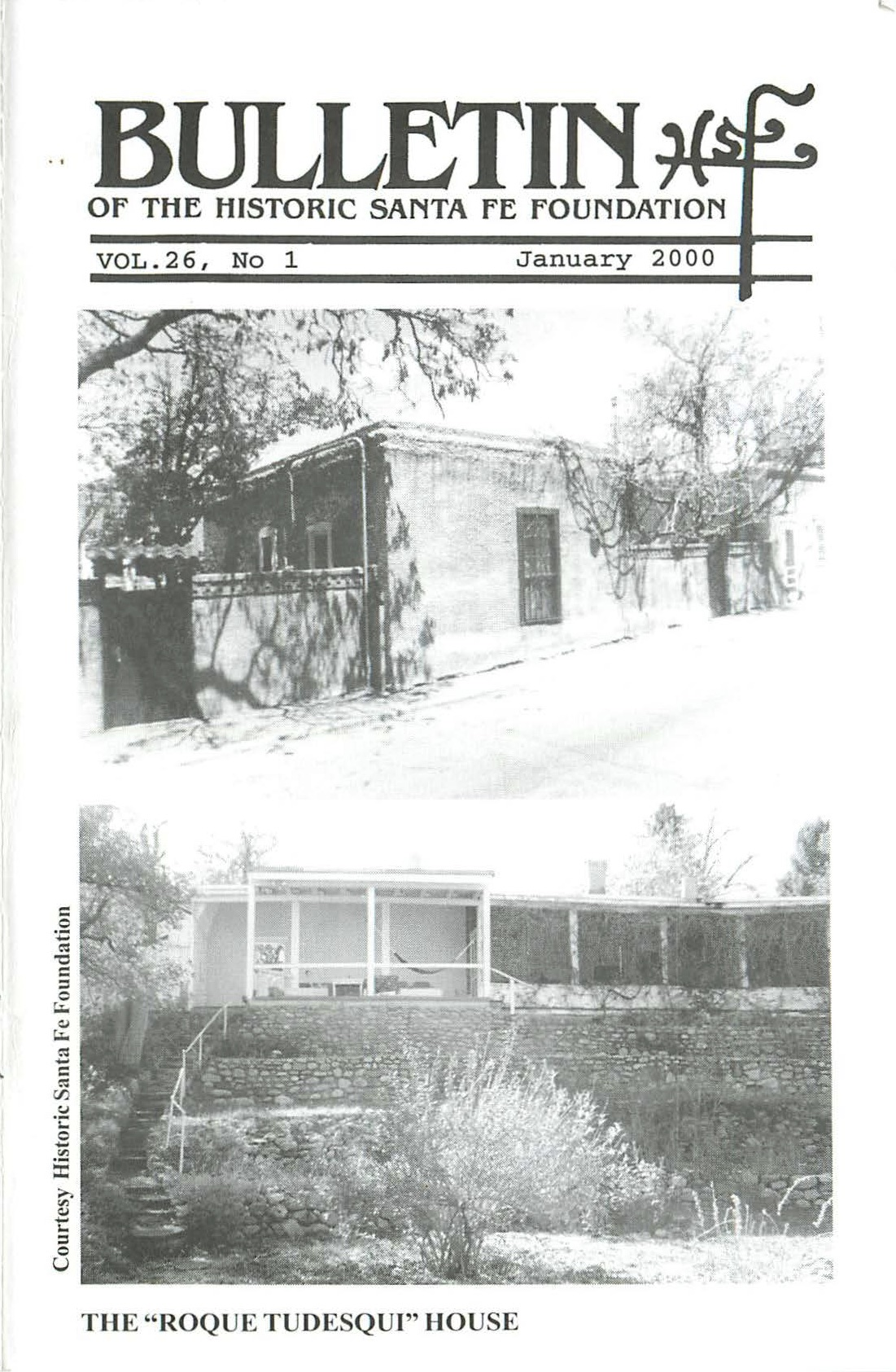 2000 HSFF Bulletin Vol.26 No.1 Cover